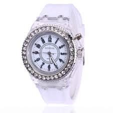 Online Shop Unisex mens <b>women diamond</b> crystal geneva 7 colors ...