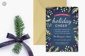 holiday party invite gold confetti invitation templates on holiday party invite foil foliage