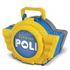 robocar poli кейс для хранения парковка с металлической машинкой поли