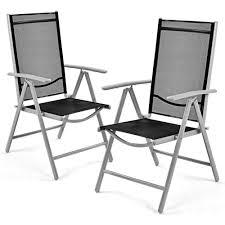 <b>Набор из 4</b> складных стульев для патио с подлокотником ...