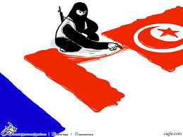 Image result for DAESH IN Tunisia CARTOON