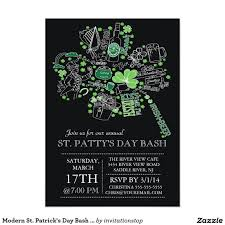 modern st patrick s day bash dinner party card patrick o brian modern st patrick s day bash dinner party card