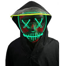 Halloween <b>Mask</b>,<b>LED Masks</b> Glow Scary <b>Mask</b>- Buy Online in ...
