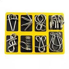 <b>butebuy</b> Kinesisk Ring IQ <b>Metal</b> Wire Pussel för barn Vuxna Kreativ ...
