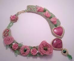 Купить <b>Колье Розовый сад</b> - бисер, украшение, <b>розовый сад</b> ...