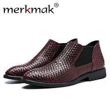 Merkmak 2018 <b>Hot Sale</b> Men's boots Shoes Leather Holes Design ...