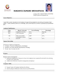Resume Samples For Freshers Mba Finance     BNZY Mba Finance Fresher Resume Samples   Resume   fresher resume sample