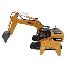 <b>HUINA 1550</b> 1:14 15 Channel 2.4G <b>RC</b> Alloy Truck Excavator Model ...