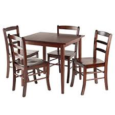 4 chair kitchen table: winsome groveland square dining table with  chairs  piece