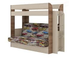 <b>Кровать</b> двухъярусная с диваном <b>Карамель 75</b> Машины - купить в ...