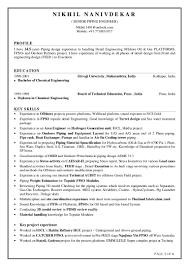 nikhil nanivdekar sr piping engineer resume