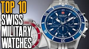 Top 10 Best <b>Swiss Military</b> Watches for Men [2019] - YouTube