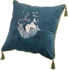 <b>Подушка декоративная Santalino</b> Кот, 850-827-22, бирюзовый ...