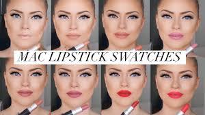 <b>MAC</b> lipstick swatches! 8 popular shades (Cremesheen, Mattes ...