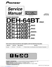 pioneer deh 5400bt manuals