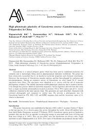 (PDF) 2019-High phenotypic plasticity of <b>Ganoderma</b> sinense ...