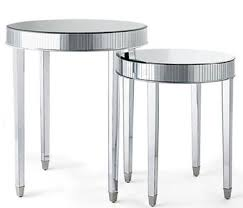 but lately ive noticed a spate of off the wall mirror pieces including end tables and dressers that evoke everything from geometric art deco art deco mirrored furniture