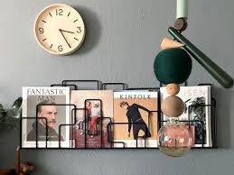 magazine rack wall mount: city sunday magazine rack wall mounted