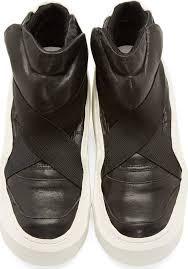Julius Black & White Rubber Prism High-Top Sneakers | Seven in ...
