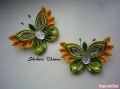 Flower Kanzashi Master Class hand made DIY Tutorial Канзаши МК ...