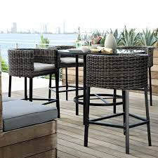 wicker bar height dining table:  images about bar height patio chairs on pinterest dining sets chairs and patio bar