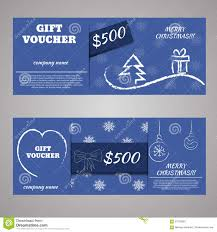 blue christmas and new year gift voucher certificate coupon stock blue christmas and new year gift voucher certificate coupon