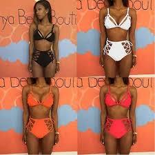 Women <b>Sexy</b> Swimwear <b>Hollow Split Bikini</b> Sets Cross Summer ...