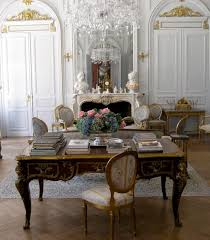 classic home office black desk white pale blue embroid chairs louis ornate panel black desk white home office