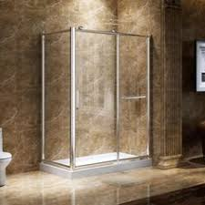 bathroom quot mission linen: complete an installation with ease with the spacious meredith reversible corner shower enclosure transparent tempered glass walls give this enclosure an