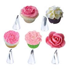 <b>5PCS Stainless Steel Nozzles</b> Cakes Decorating Baking Tools DIY ...