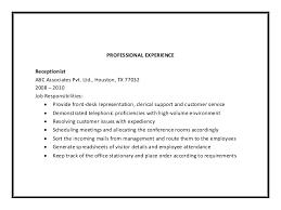 receptionist job description for resume  perfect resume  receptionist resume sample pdf medical receptionist cv template job description