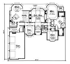 Single Story French Country   DJ   st Floor Master Suite    Floor Plan