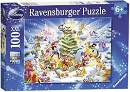 Ravensburger Disney <b>Christmas</b> Eve XXL <b>100pc</b> Jigsaw Puzzle ...