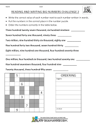 4th Grade Math Worksheets: Reading, Writing and Rounding BIG Numbers4th grade math worksheets reading writing big numbers 2