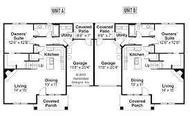 Craftsman House Plans   Donovan     Associated DesignsDuplex Plan   Donovan     st Floor Plan
