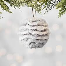 Gray <b>Faux Fur</b> Orb <b>Ornament</b> | Kirklands