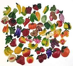 Miswee random <b>12Pcs</b> creative 3D resin fruit vegetables <b>fridge</b> ...
