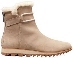 Sorel - Women's Harlow Bootie Cozy Winter Boot with <b>Shearling</b> Collar