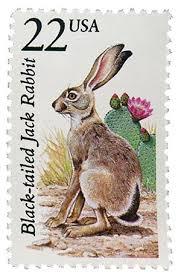 1987 22c North American Wildlife: <b>Black</b>-tailed Jack <b>Rabbit</b> for sale ...