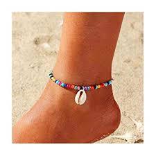 Edary <b>Boho</b> Shell Anklet Bracelet Colorful <b>Beaded</b> Anklets <b>Foot</b> ...