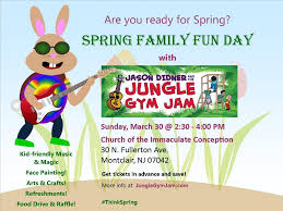 jason didner and the jungle gym jam immaculate conception spring flyer 4x3