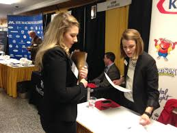 at career fair students signs of reviving job market a college student stopped in front of kraft s table and asked for information ma