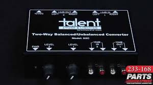Talent SXC <b>Two-Way Balanced</b>/Unbalanced Converter - YouTube