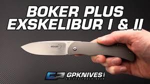Boker Plus Exskelibur I & II CPM <b>S35VN</b> Frame Lock <b>Folding Knife</b> ...