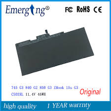 Genuine cs03xl battery for hp elitebook 745 zbook 15u g3 laptop ...