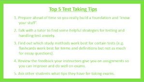 essay test taking hints  essay test taking hints