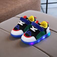 Baby Girs Led Light Shoes Boys Soft <b>Luminous Outdoor Sport</b> ...