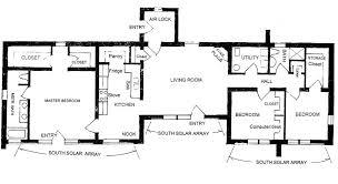 Solar Adobe House Plan Solar Floorplan