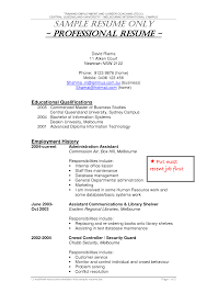 Security Guard Resume Entry Level Resume For Your Job Application