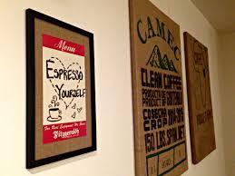 diy vintage menu board this ohio life i love how my menu board looks my burlap coffee sacks on the wall